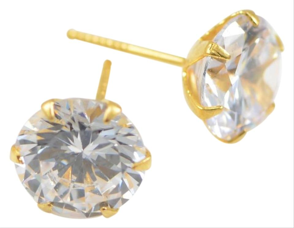 877b9b73c3 Other Clear Cz Stone 18K Gold Plated Stud Earrings Image 0 ...