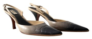 Prada Slingback Ombre Leather Grey Pumps