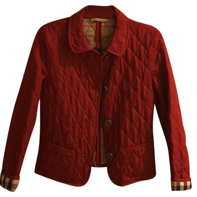 Item - Red Cropped Quilted with Rope Tie Jacket Size 4 (S)