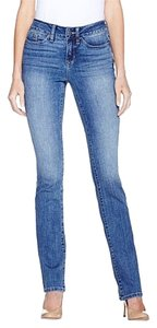 Yummie By Heather Thomson Slimming Mid Rise Straight Leg Skinny Jeans-Medium Wash