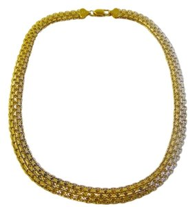 Veronese Collection Veronese Collection 18k Clad Over .925 Sterling Silver Woven Design High Polish 18 Inch Necklace