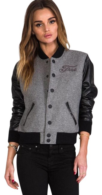 Item - Black/Grey Richie Varsity Jacket Size 4 (S)