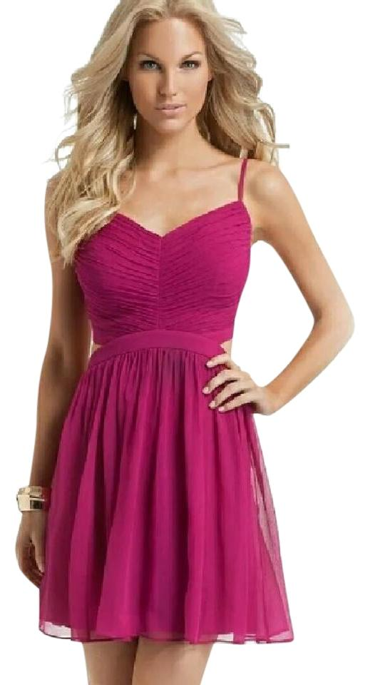d319ab7bcf4 Guess By Marciano Pink Julia Cutout Short Cocktail Dress Size 4 (S ...