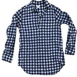 J.Crew Button Down Shirt Navy / White