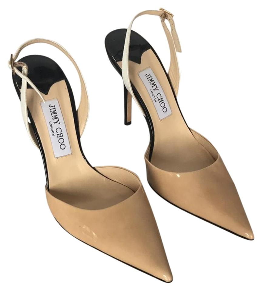 Jimmy Choo Pumps Nude and Black Slingback Pumps Choo 872786