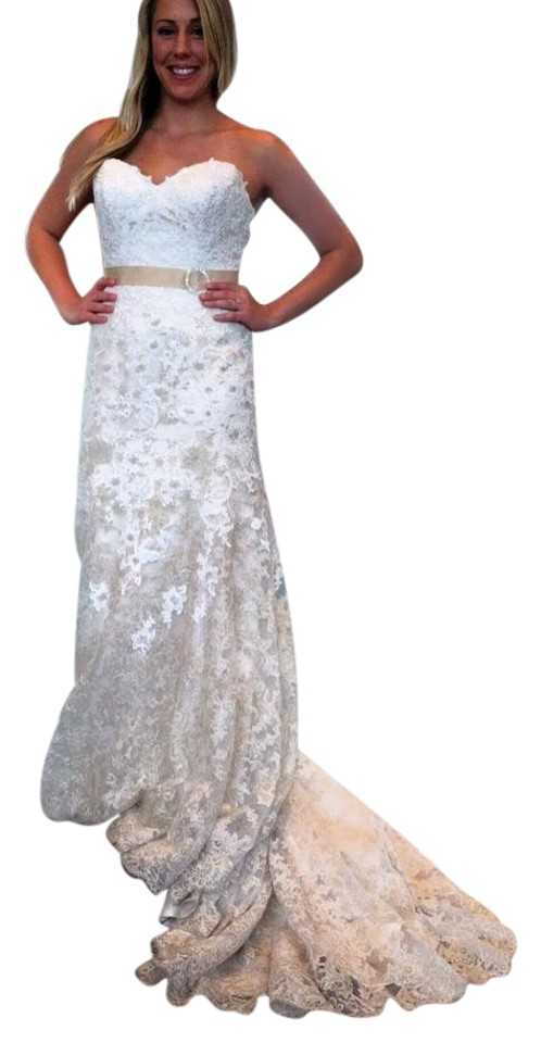 Maggie Sottero Ivory/Lightgold/Lightgold Lace Britannia Vintage ...