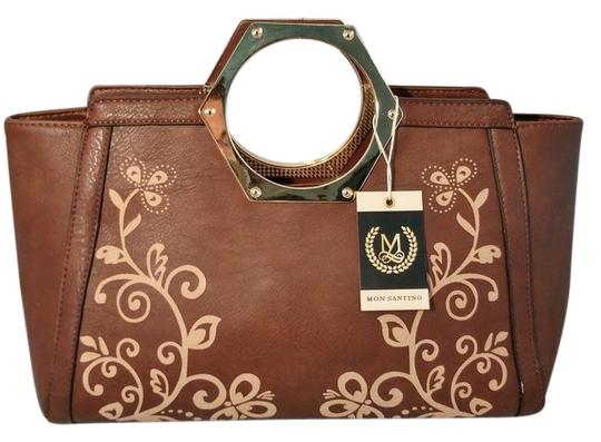 Preload https://img-static.tradesy.com/item/22108190/ring-handle-brown-faux-leather-satchel-0-2-540-540.jpg
