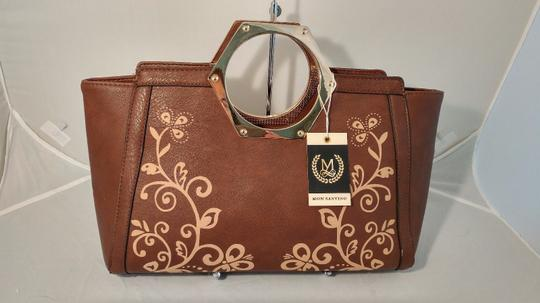 Mon Santino Ring Handle Ring Satchel in brown Image 1