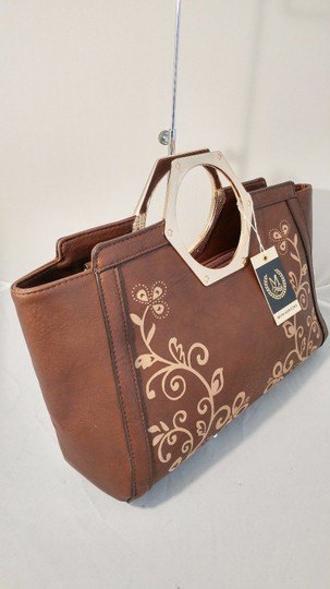 Mon Santino Ring Handle Ring Satchel in brown Image 4