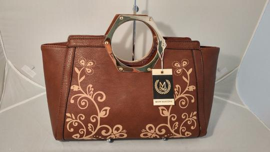 Mon Santino Ring Handle Ring Satchel in brown Image 5