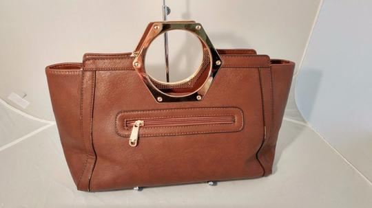 Mon Santino Ring Handle Ring Satchel in brown Image 7