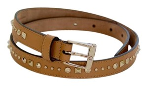 Gucci NWT GUCCI STUDDED LEATHER SKINNY BELT SZ 36 90 MADE IN ITALY