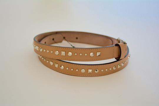 Gucci NWT GUCCI STUDDED LEATHER SKINNY BELT SZ 36 90 MADE IN ITALY Image 1