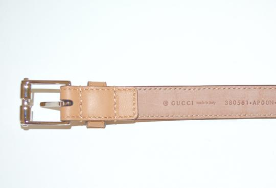 Gucci NWT GUCCI STUDDED LEATHER SKINNY BELT SZ 36 90 MADE IN ITALY Image 3