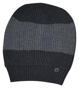 18e62559b Gucci NWT GUCCI INTERLOCKING GG WOOL KNITTED BEANIE SKY HAT SZ ONE SIZE