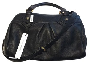 Marc by Marc Jacobs Leather Metallic Hardware Casual Satchel in Black