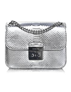 Michael Kors Sloan Sloan Editor Embossed Metallic Cross Body Bag