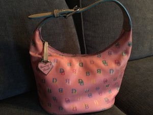 Dooney & Bourke Signature Monogram Leather Hobo Bag