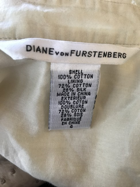 Diane von Furstenberg short dress cream on Tradesy Image 4