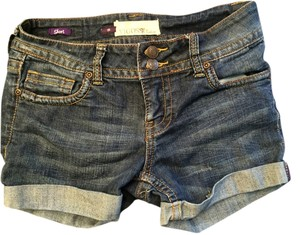 Vigoss Collection Cuffed Shorts dark wash denim