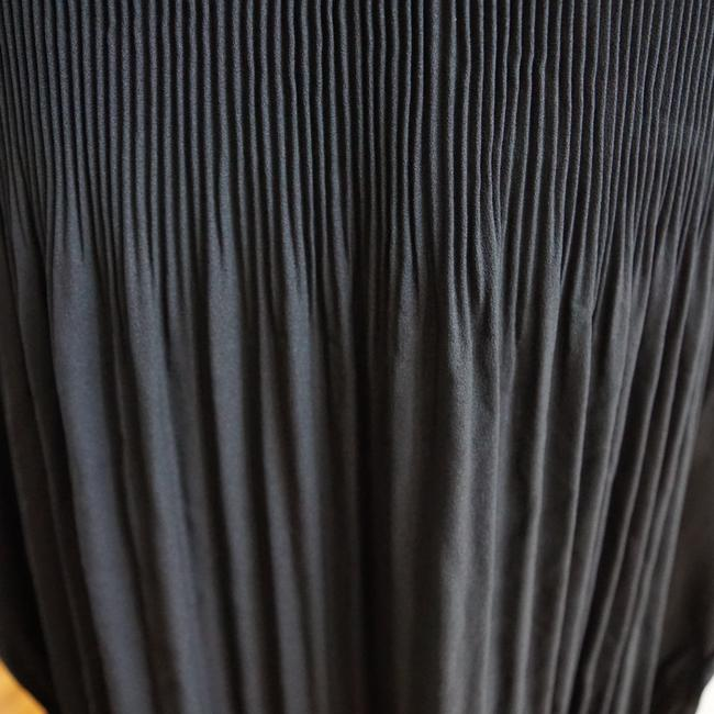 LoveRiche Tie Neck Pleats Top Black Image 8