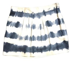 Joie Mini Skirt ivory and blue
