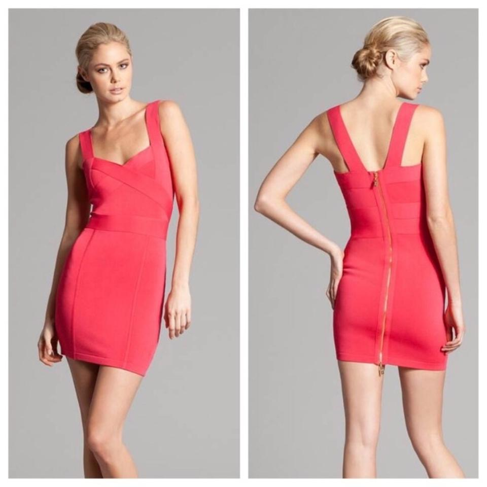 Guess By Marciano Pink Bandage Short Cocktail Dress Size 4 (S) - Tradesy