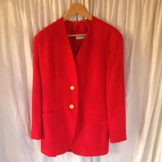 Givenchy Vintage Gold Hardware Red Blazer