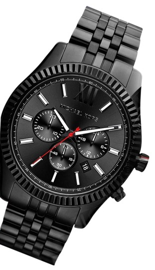Michael Kors 100% NEW MICHAEL KORS Black Lexington Chrono Bracelet Watch MK8320 Image 0