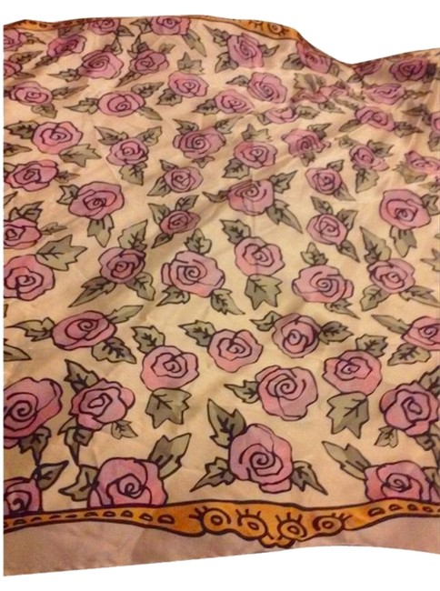 Betsey Johnson Multicolor Roses Vintage Scarf/Wrap Betsey Johnson Multicolor Roses Vintage Scarf/Wrap Image 1