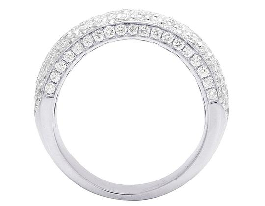 Jewelry Unlimited Men's 14K White Gold Diamond Iced Band Ring 4 CT 13MM Image 1