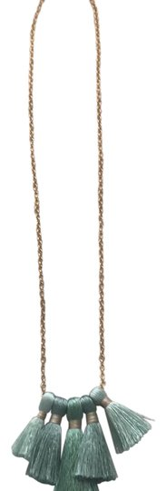 Preload https://img-static.tradesy.com/item/22109294/gold-chain-pale-green-tassels-necklace-0-1-540-540.jpg
