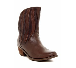 Sheridan Mia Cowboy Fringe Leather Casual Brown Boots