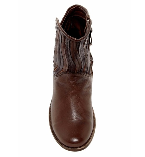 Sheridan Mia Cowboy Fringe Leather Casual Brown Boots Image 1