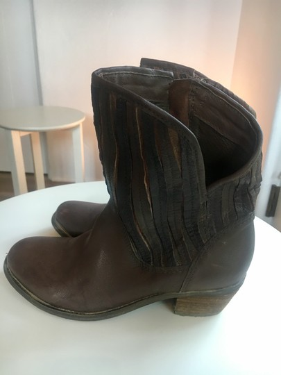 Sheridan Mia Cowboy Fringe Leather Casual Brown Boots Image 6