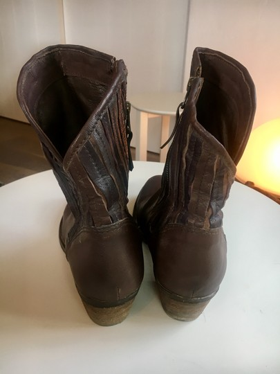 Sheridan Mia Cowboy Fringe Leather Casual Brown Boots Image 7