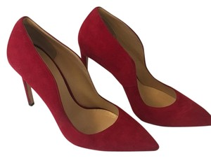 Alberto Moretti Suede Pointed Toe Cool Red Pumps