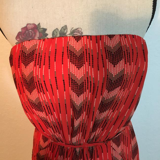 Collective Concepts short dress Red & Black Strapless Elastic Waist Pockets Belted on Tradesy Image 1