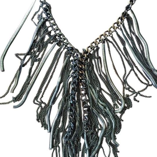 Other Multi-layer Chain Fringe Statement Necklace Choker