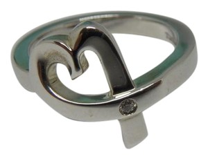 Tiffany & Co. sterling silver Loving Heart w/ Diamond Ring 6, by Paloma Picasso