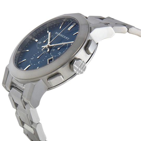 Burberry NEW IN BOX AUTHENTIC BURBERRY CHRONO MEN BLUE DIAL WATCH BU9363 Image 1
