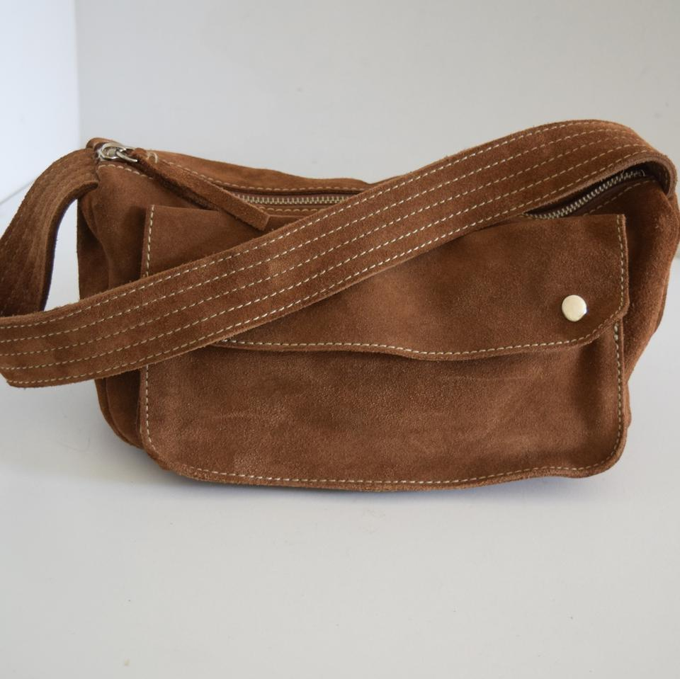 81b047319ac64 Banana Republic Soft Brown Suede Leather Shoulder Bag - Tradesy