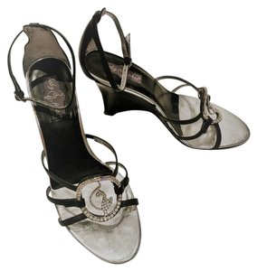 Baby Phat Black and silver Wedges