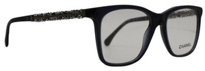 Chanel Square Transparent Blue With Beaded Crystals Eyeglasses 3362B C.1598