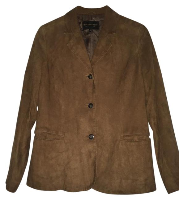 Golden Bear Butter Soft Buttery Soft Leather Cinnamon Suede Nutmeg Walnut Brown Blazer Image 0