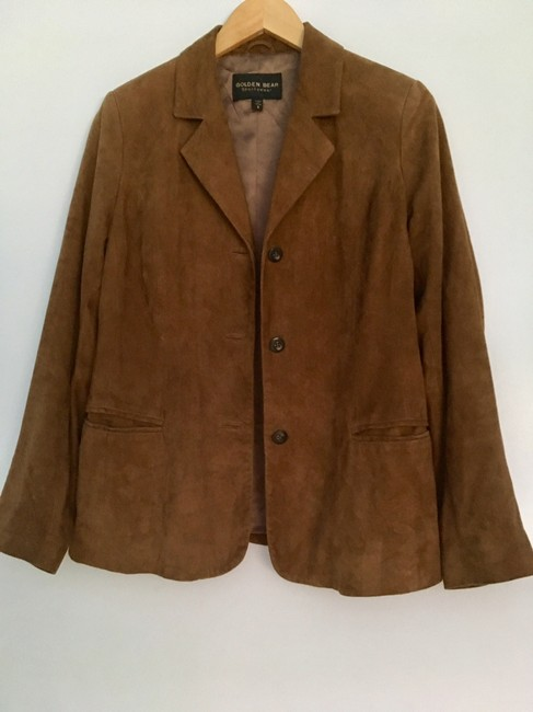 Golden Bear Butter Soft Buttery Soft Leather Cinnamon Suede Nutmeg Walnut Brown Blazer Image 1