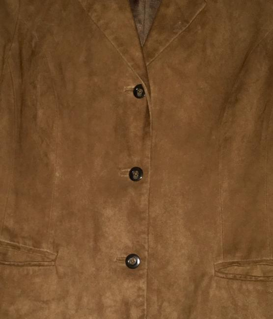 Golden Bear Butter Soft Buttery Soft Leather Cinnamon Suede Nutmeg Walnut Brown Blazer Image 3