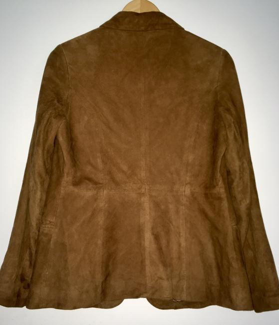 Golden Bear Butter Soft Buttery Soft Leather Cinnamon Suede Nutmeg Walnut Brown Blazer Image 4