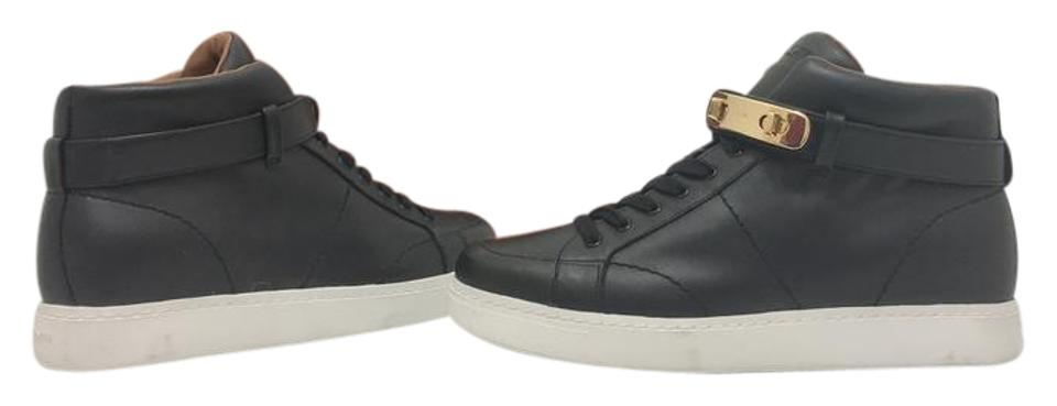 b18b37b84e21 Coach Black Leather Swagger Richmond Women s High Top Wedge Sneakers  Sneakers