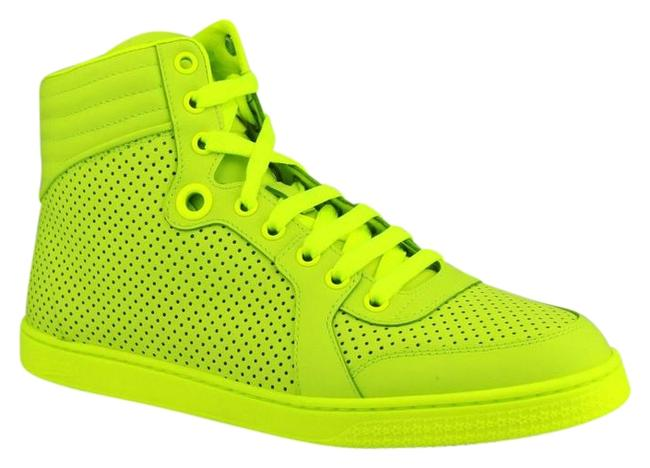 Item - Neon Green Leather Hi Top 41g / 11.5 323812 7102 Sneakers Size EU 41 (Approx. US 11) Wide (C, D)